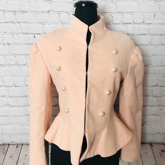 ebdc3d7f Zara Jackets & Coats | Nwt Pink Military Jacket Size Medium | Poshmark
